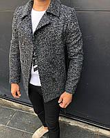 Черно-белое пальто мужское
