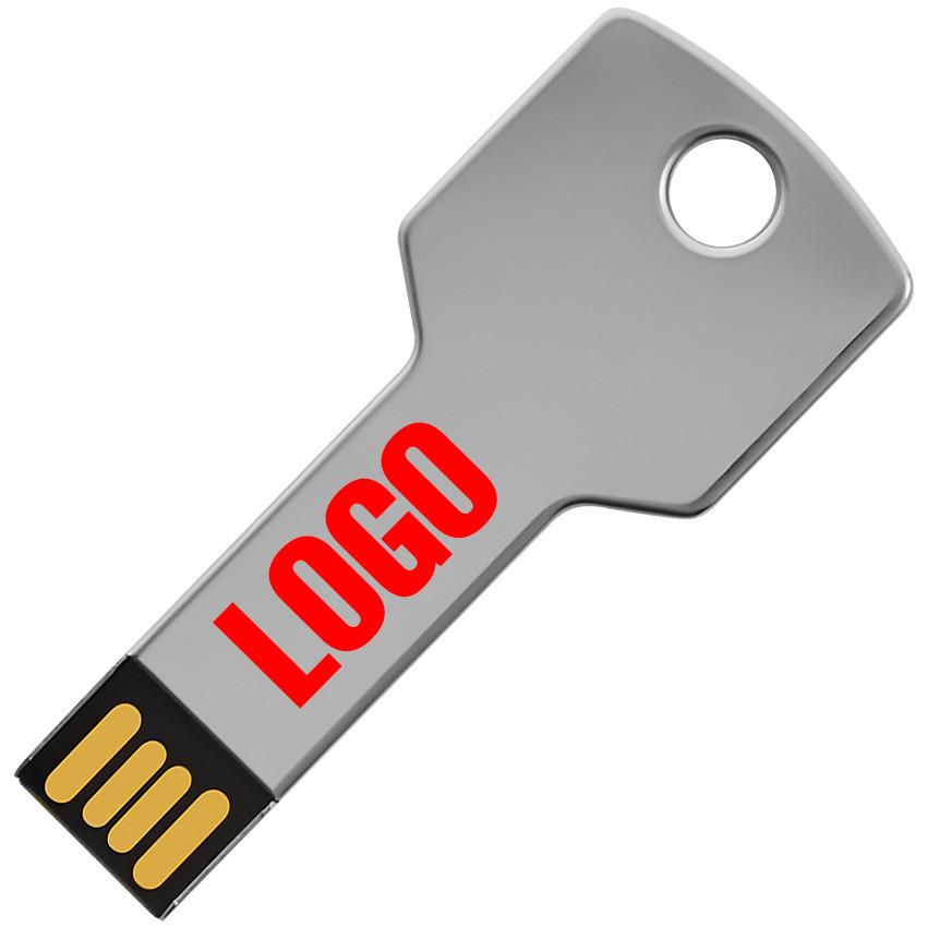 Флешка Серебряный ключ под гравировку 64 Гб (0457-64-Гб)