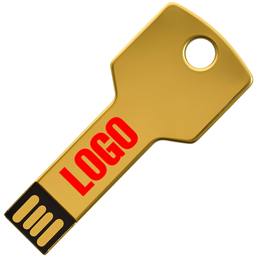 Флешка Золотой ключ с логотипом 16 Гб (0457-1-16-Гб)