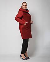 Женское пальто демисезонное  с капюшоном рр 48-60
