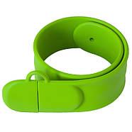 Флешка-браслет под логотип зеленая 16 Гб (0993-5-16-Гб), фото 4