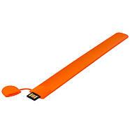 Флешка в виде браслета для шелкотрафарета оранжевая 32 Гб (0993-6-32-Гб), фото 2