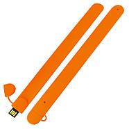 Флешка в виде браслета для шелкотрафарета оранжевая 32 Гб (0993-6-32-Гб), фото 3