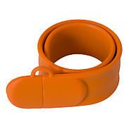 Флешка в виде браслета для шелкотрафарета оранжевая 32 Гб (0993-6-32-Гб), фото 4
