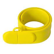Флешка в виде браслета для шелкотрафарета желтая 32 Гб (0993-7-32-Гб), фото 4