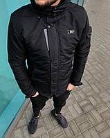 Черная мужская зимняя куртка