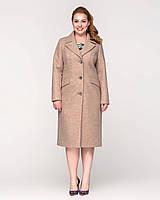 Женское пальто длинное, классическое с поясом рр 50-58