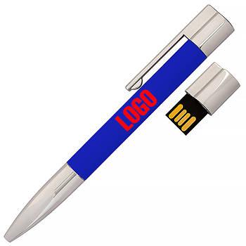 Флешка-ручка Neo синяя под печать логотипа 64 Гб (1133-3-64-Гб)