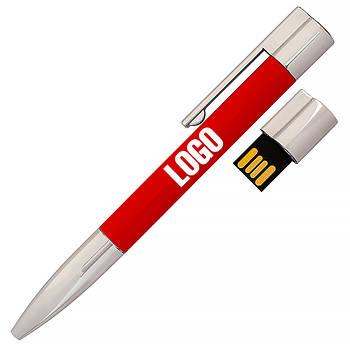 Флешка-ручка Neo красная для нанесения лого 4 Гб (1133-4-4-Гб)