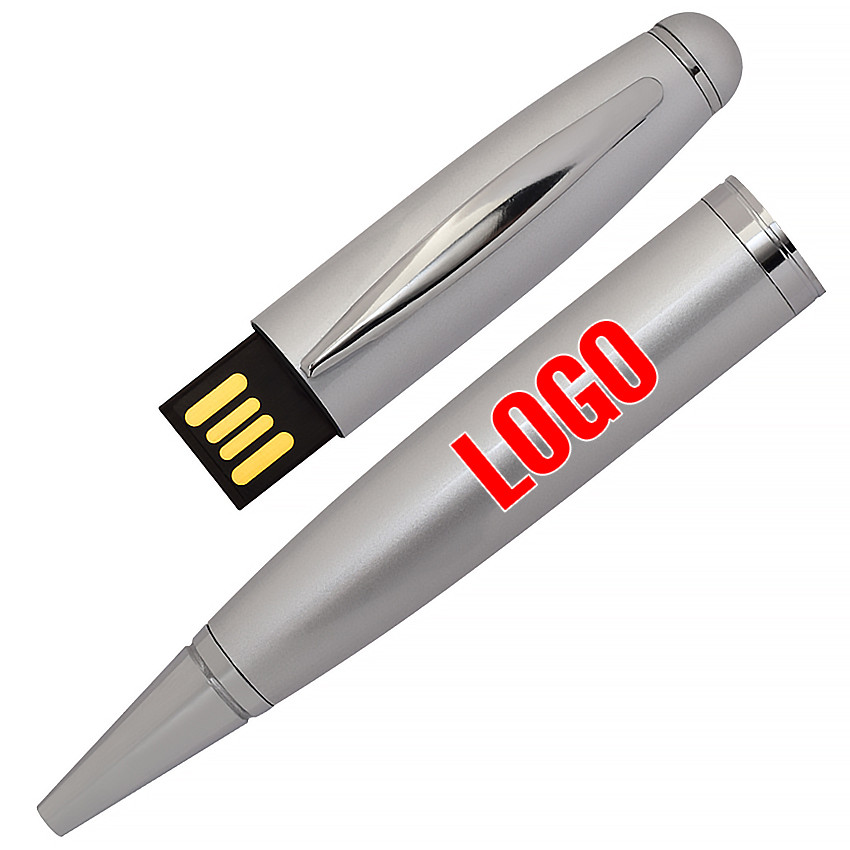 Флешка-ручка Classic серебро для нанесения лого 4 Гб (1122-6-4-Гб)