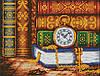 """Схема для вышивки бисером на габардине """"Мудрость и время"""" Полная зашивка"""