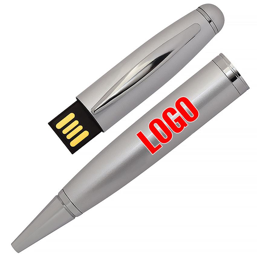 Флешка-ручка Classic серебро под логотип 16 Гб (1122-6-16-Гб)