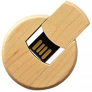Флешка деревянная круглая для нанесения лого 4 Гб (0247-4-Гб), фото 4