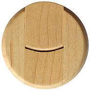 Флешка деревянная круглая под печать лого 16 Гб (0247-16-Гб), фото 3