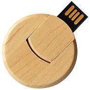 Флешка деревянная круглая под печать лого 16 Гб (0247-16-Гб), фото 5