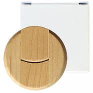 Флешка деревянная круглая под печать лого 16 Гб (0247-16-Гб), фото 6