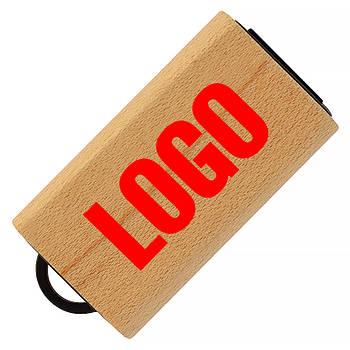 Флешка деревянная мини под печать лого 16 Гб (0252-16-Гб)