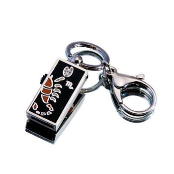 """Флешка """"USB Скорпион"""" серебристый 16Гб (03202B-16-Гб)"""