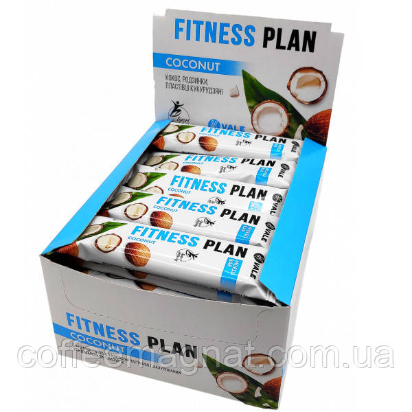 Батончик Fitness Plan с кокосом 25 г (упаковка 30 шт)