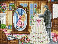 """Схема для вышивки бисером на габардине """"Дочь глазами отца"""""""