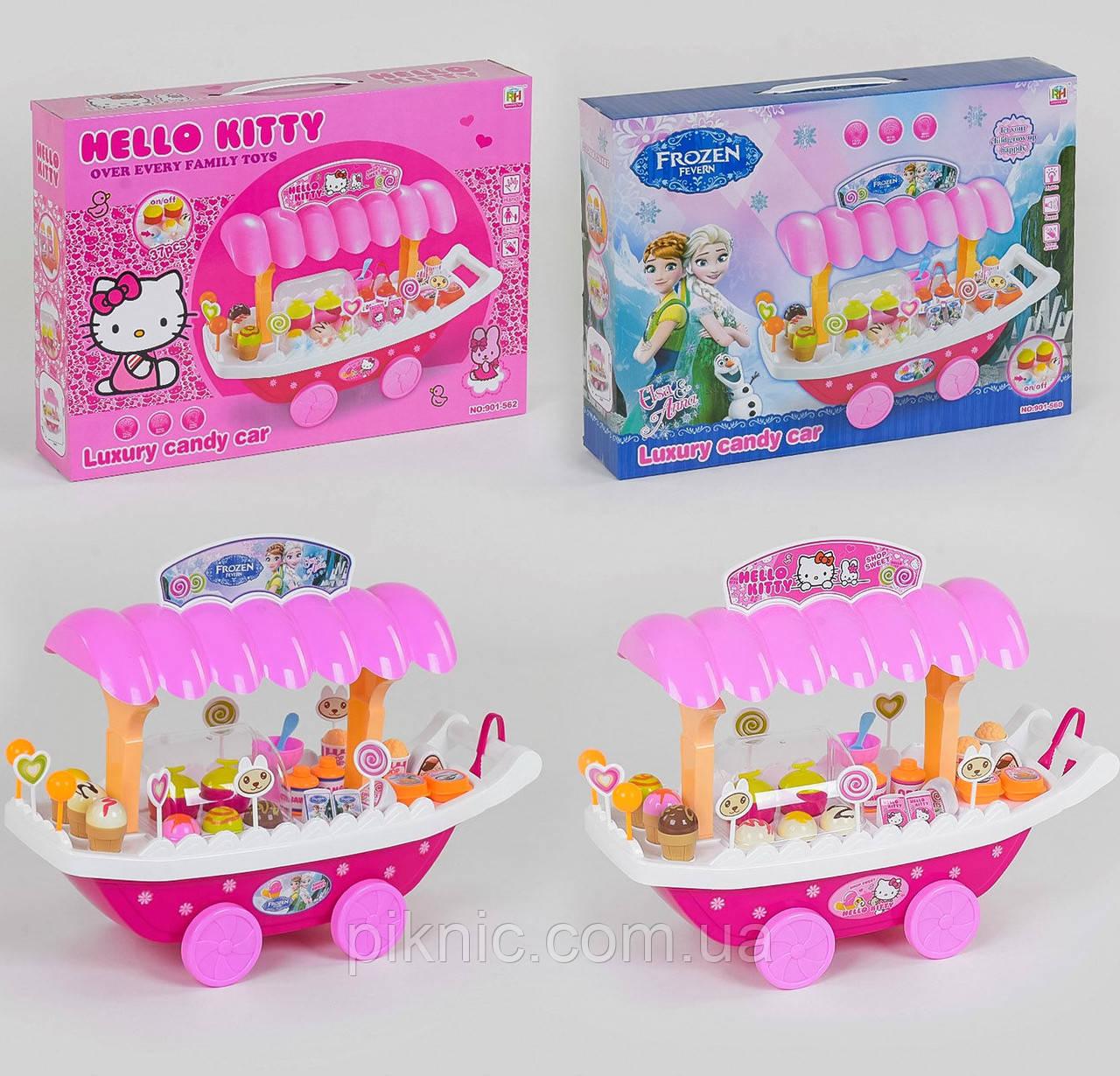 Игровой набор Магазин сладостей Хеллоу Китти, Фроузен для детей 2 вида, музыкальный, на батарейке, в коробке