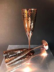 Набор 6 бокалов для шампанского Bailey Rose 250 мл золотой