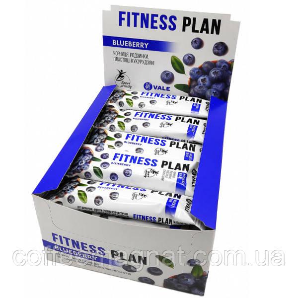 Батончик Fitness Plan с черникой 25 г (упаковка 30 шт)