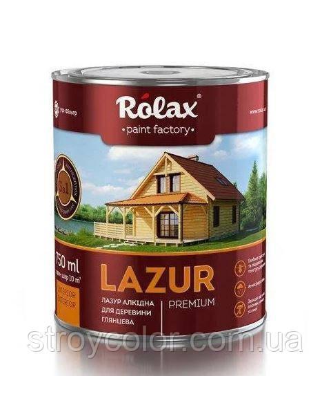 Алкидная лазурь темный дуб 104 Rolax Premium для дерева 0.75 мл.(Ролакс Lazur)