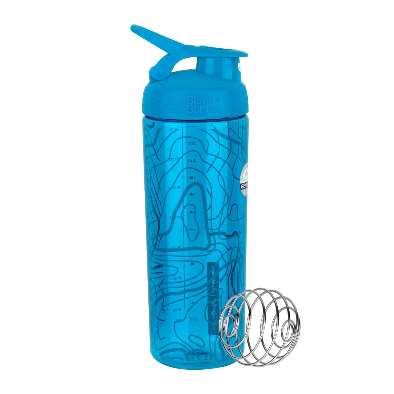 Спортивная бутылка-шейкер BlenderBottle SportMixer Signature Sleek AQUA TOPT FLOW 820мл (ORIGINAL)