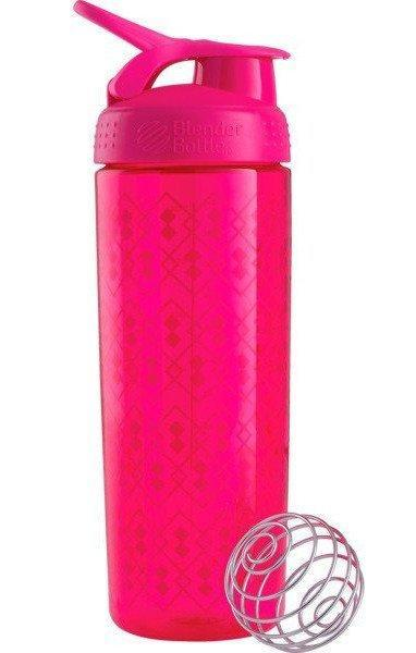 Спортивная бутылка-шейкер BlenderBottle SportMixer Signature Sleek PINK GEO LACE 820мл (ORIGINAL)