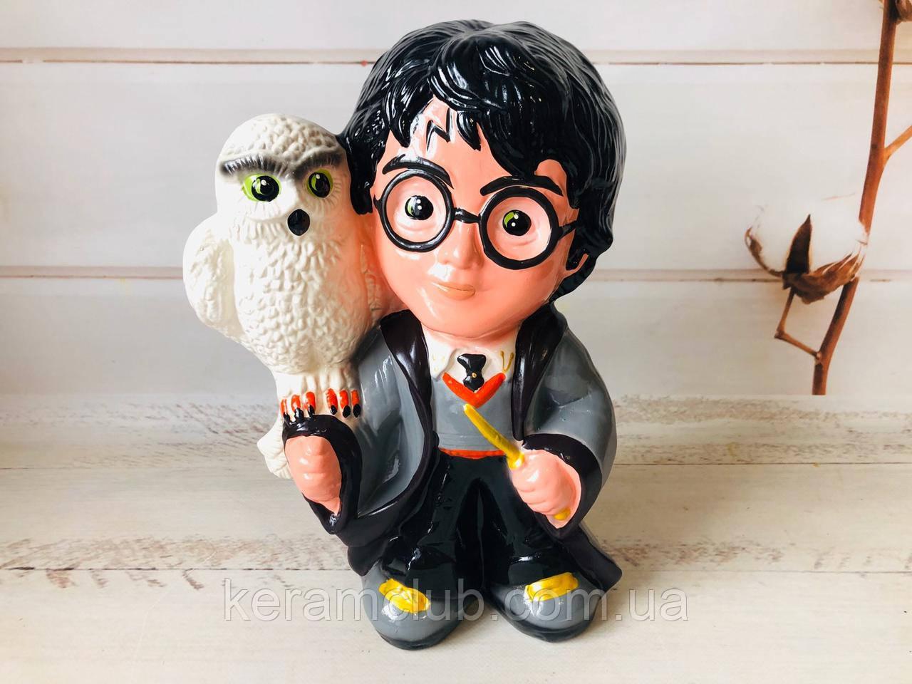 Керамічна скарбничка Гаррі Поттер з совою h 30 см