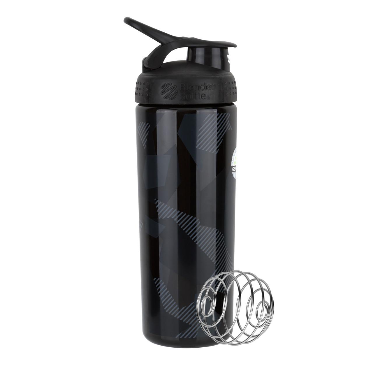 Спортивная бутылка-шейкер BlenderBottle SportMixer Signature Sleek BLACK SHATTERED SLATE 820мл (ORIGINAL)