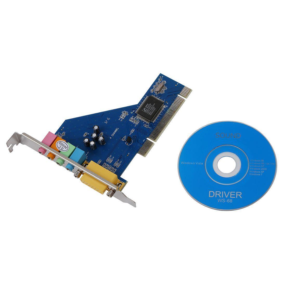 Внутренняя Звуковая карта PCI - 4CH (c-media 8738), 3D 4.1, 4 канала