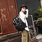 """Мужской Рюкзак Городской для Ноутбука 15.6"""" Искусственная Кожа (EW305) Черный, фото 10"""