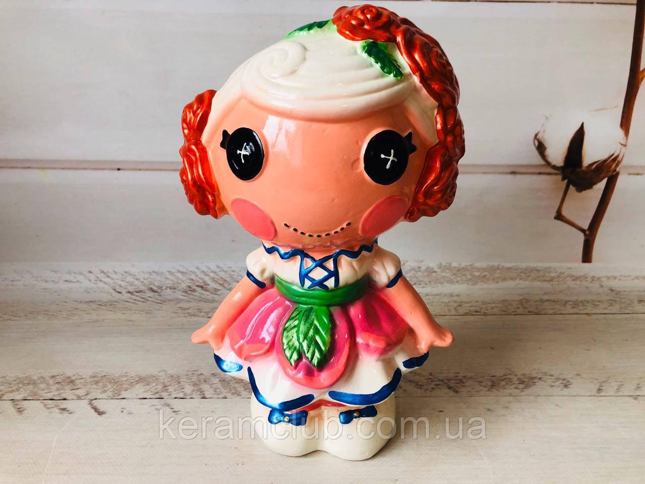 Копилка керамическая Кукла h 27 см