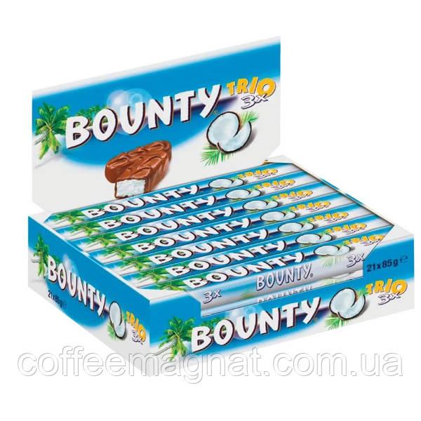 Батончик Bounty Trio 85 г (упаковка 21 шт)