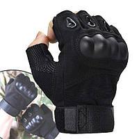 Тактические перчатки (M,L,XL) с открытыми пальцами Oakley армейские / Беспалые велоперчатки / Мотоперчатки