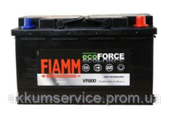 Аккумулятор автомобильный Fiamm Ecoforce AGM 80AH L+ 800А (VR800)