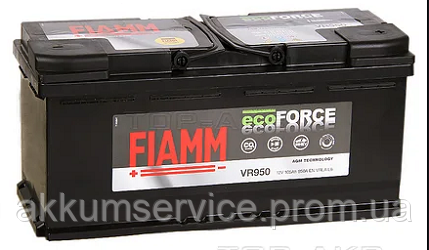 Аккумулятор автомобильный Fiamm Ecoforce AGM 105AH L+ 800А (VR950)