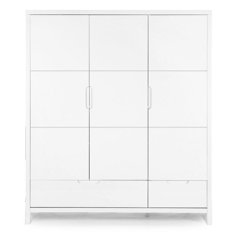 Шкаф 3-х дверный CHILDHOME QUADRO WHITE