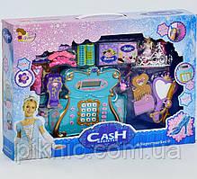 Детский кассовый аппарат Принцесса для девочек. Детская касса музыкальная, светится