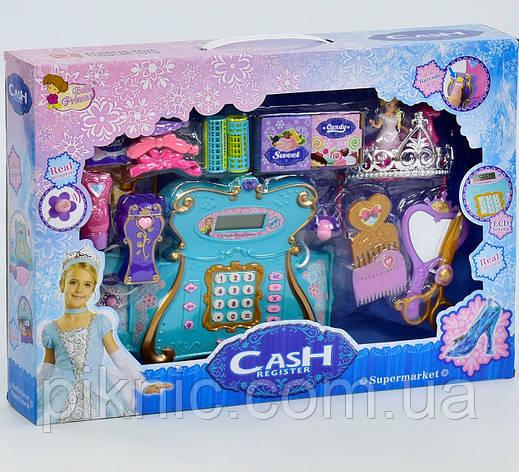 Детский кассовый аппарат Принцесса для девочек. Детская касса музыкальная, светится, фото 2