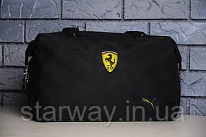Женская сумка в стиле Puma Ferrari логотип вышит   PU кожа