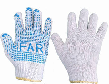 Перчатки ФАР с ПВХ точка (белые)