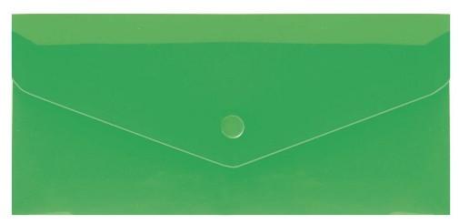 """Евроконверт Е65 прозрачный на кнопке, 180 мкм, фактура """"глянец"""", зеленый"""