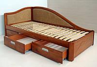 Кровати подростковые. Кровати деревянные. Кровати с ящиками.kr.pd.bx.11, фото 1