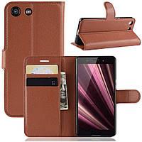 Чехол-книжка Litchie Wallet для Sony Xperia Ace / XZ4 Compact Brown