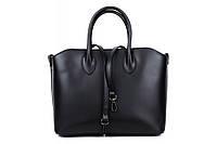 Итальянская женская сумка из натуральной кожи. Цвет: Черный