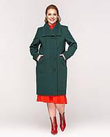 Женское пальто на пуговицах большие размеры  рр 52-64