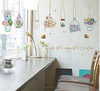 Интерьерная наклейка на стену Цветы